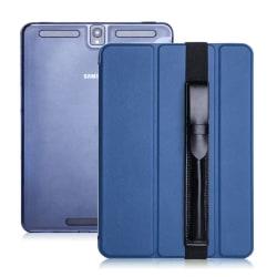Samsung Galaxy Tab S3 tri-fold läderfodral - Blå