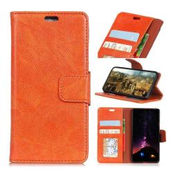 Samsung Xcover 4 Enfärgat läder skal - Orange