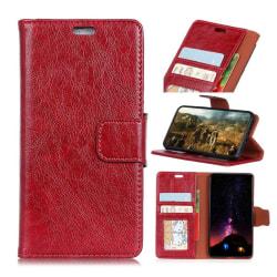 Samsung Xcover 4 Enfärgat läder skal - Röd