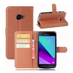 Samsung Xcover 4 Enfärgat skinn fodral - Brun