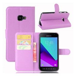 Samsung Xcover 4 Enfärgat skinn fodral - Lila