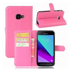 Samsung Xcover 4 Enfärgat skinn fodral - Rosa