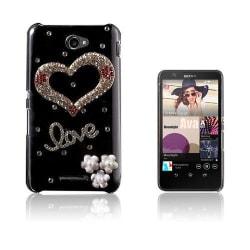 Shine Sony Xperia E4 Hårt Skal - Diamant Hjärta