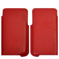 Smart Cut Samsung Galaxy S2 Läderpåse (Röd)