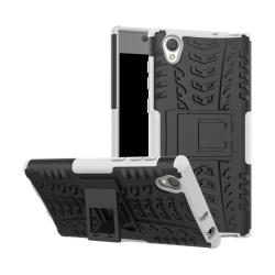 Sony Xperia L1 Hybird skal med unik kickstand funktion - Vit