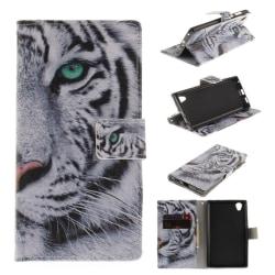 Sony Xperia L1 Vikbart fodral med läckert motiv - Tiger