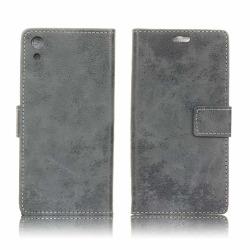 Sony Xperia XA1 vintage läderfodral - Grå