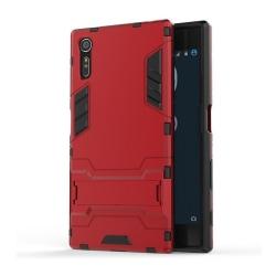 Sony Xperia XZ hybridskal med kickstand - Röd