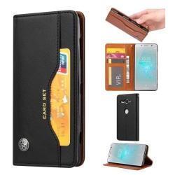 Sony Xperia XZ2 Compact Läckert fodral i läder - Svart