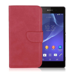 Sony Xperia Z3 Compact Case with Card Holder (Red)