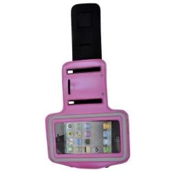 Sport iPhone 4S Armbandsskal (Het Rosa)