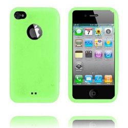 TPU Shell Semi-Transparent (Grön) IPhone 4 Skydd