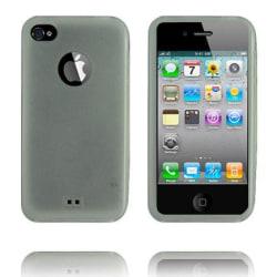 TPU Shell Semi-Transparent (Vit) iPhone 4 Skal