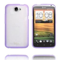 Transparent Back (Lila Kant) HTC One X Skal