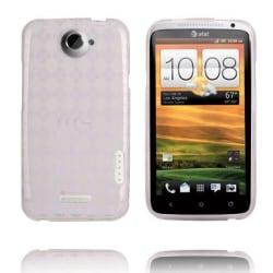 Tuxedo (Vit Transparent) HTC One X Skal