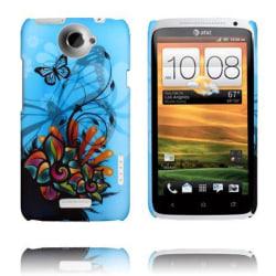 Valentine (Blå Himmel - Abstrakt Blomma) HTC One X Skal