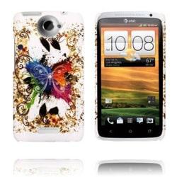 Valentine (Färgglad Fjäril) HTC One X Skal