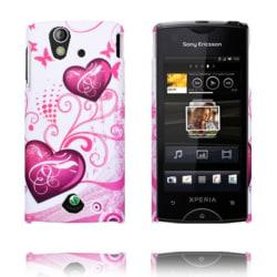 Valentine (Två Lila Hjärtan) Sony Ericsson Xperia Ray Skal