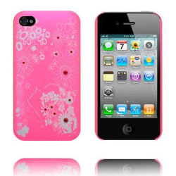 Vit Blomma - Matt Transparent (Rosa) iPhone 4S Skal