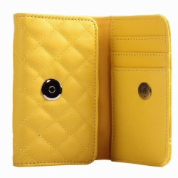 Vogue Läderplånbok för iPhone 4 / 4S (Gul)