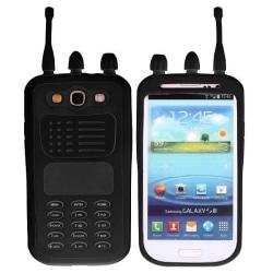WalkieTalkie (Svart) Samsung Galaxy S3 Kombinationsskal