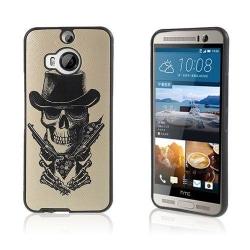 Wester Edge HTC One M9 Plus Skal - Piratskalle & Pistoler