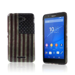 Westergaard Sony Xperia E4 TPU Skal - USA Flagga