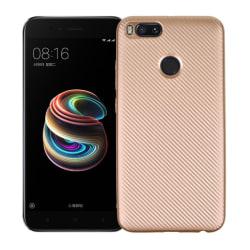 Xiaomi Mi A1 Skal med en karbon fiber design - Guld