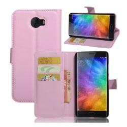 Xiaomi Mi Note 2 Skinn fodral med kortfickor - Ljus rosa
