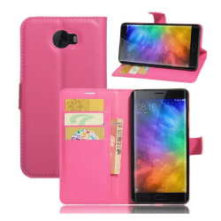 Xiaomi Mi Note 2 Skinn fodral med kortfickor - Rosa