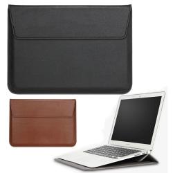 Datorfodral i läder / Läderfodral till Macbook 13 Air / Retina Svart
