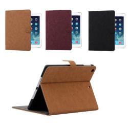 iPad fodral i läder / mocka till iPad mini 4/5 Mörklila