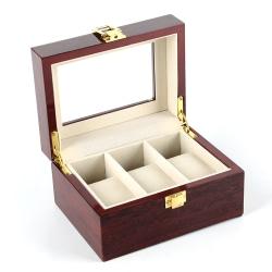 Klockbox / klocklåda i trä för 3 st klockor - pianolack