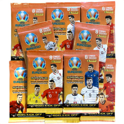 10st paket Fotbollskort Adrenalyn XL Euro 2021 KICK OFF