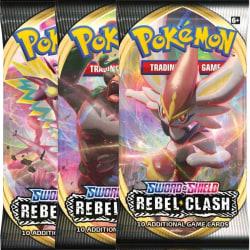 Pokémon Boosters - 3st Rebel Clash (Totalt 30 kort)