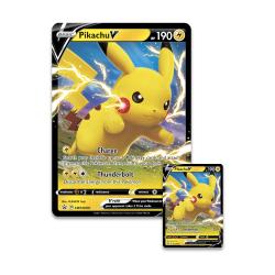 Pokémon Promo glitterkort x 2: Pikachu V Shiny Pokemonkort