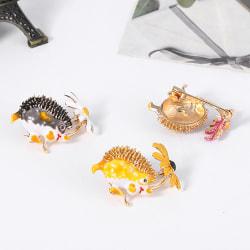 Kreativa Hedgehog Flower Shape Brosch Pin klädväska smycken