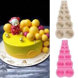 Easy Removal Unique Shape Silicone Half Round Baking Mold Light Grey