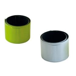 2-Pack Slapwrap - Reflexband Silver + Gul