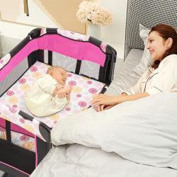 Säng med fickmusikbox Söt leksaker, rosa