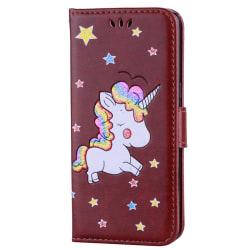 Fodral Samsung Galaxy S7 Edge Enhörning-Unicorn - Brun Brun
