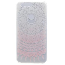 Huawei Honor 8 skal soft TPU flexi - mandala rosa Rosa