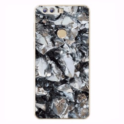 Huawei Honor 8 skal soft TPU flexi -svart vit kristall Svart