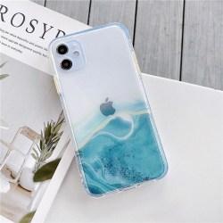 Mobilskal Iphone11grön marmor Grön