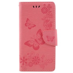 One Plus 6 fodral Butterflies relief - Pink