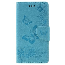 One Plus 6 fodral Butterflies relief - Skyblue