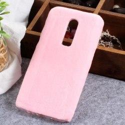 One Plus 6 skal Fluffy - Pink Rosa