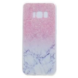 Samsung Galaxy S8 skal TPU rosa marmor Rosa