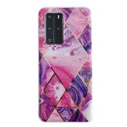 Marmorskal till iPhone 12 Mini  lila