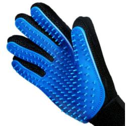 Borsthandske för Husdjur - Groominghandske Blå one size